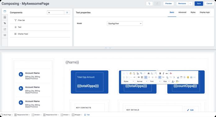 Screenshot of Huyen buidling an app in Skuid.