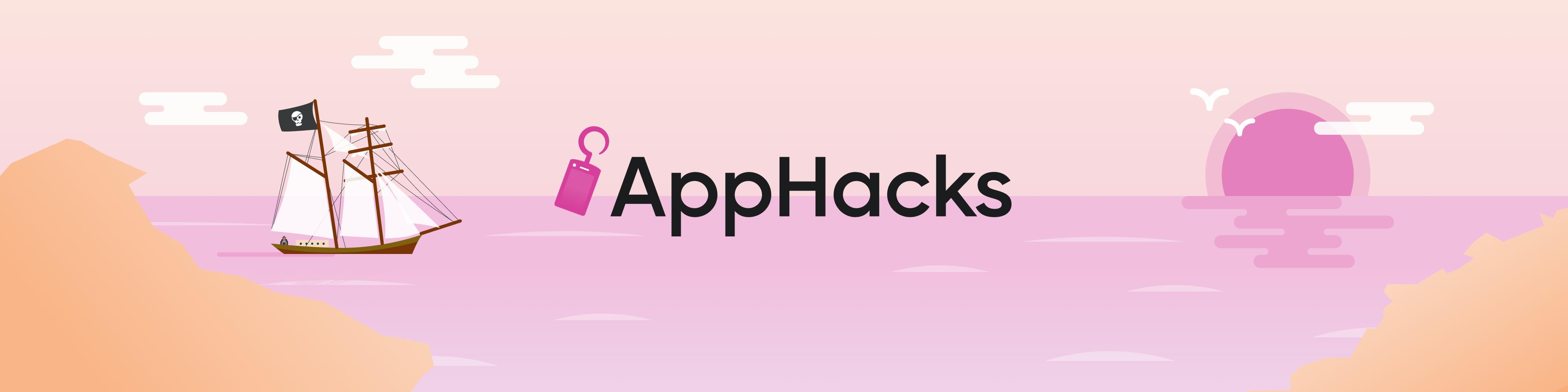 "Nautical themed illustration reading ""App Hacks."""