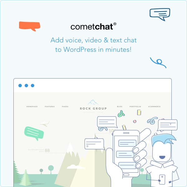 CometChat Now Available In WordPress Plugins Store