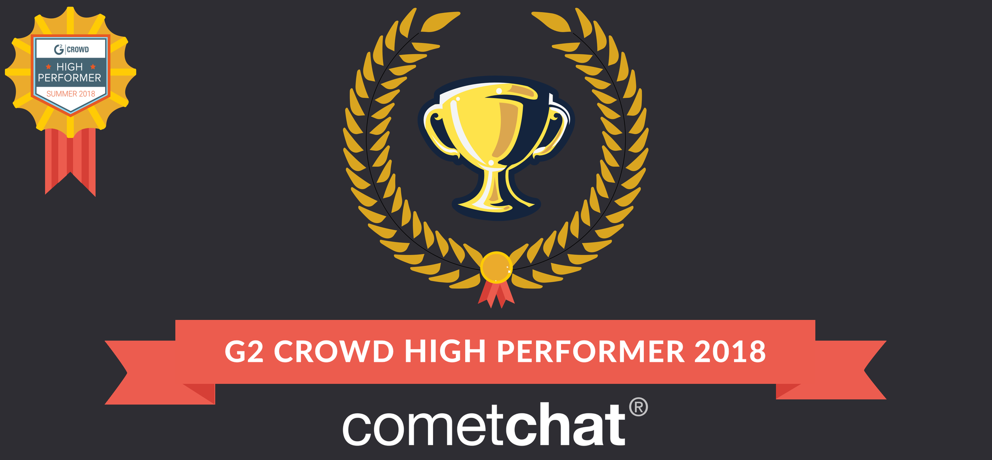CometChat awarded as a High Performer by G2 Crowd