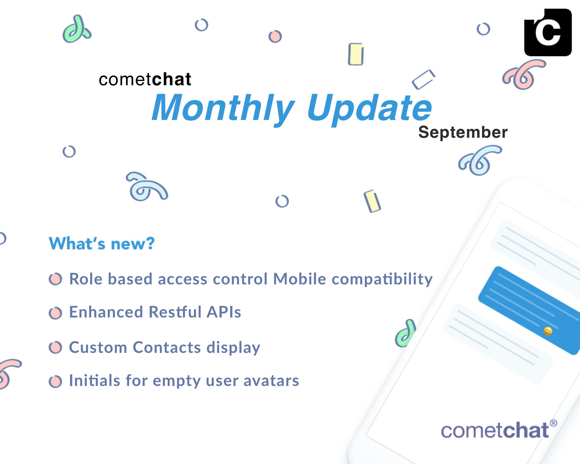 September Update: Enhanced Restful API, Custom Contacts & More