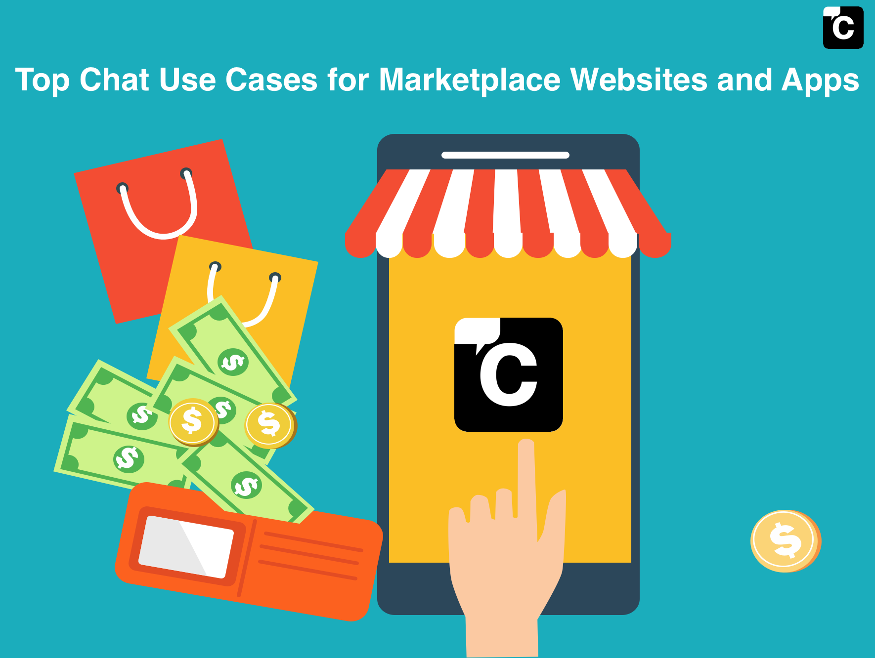 Top Chat Use Cases for Marketplace Websites and Apps