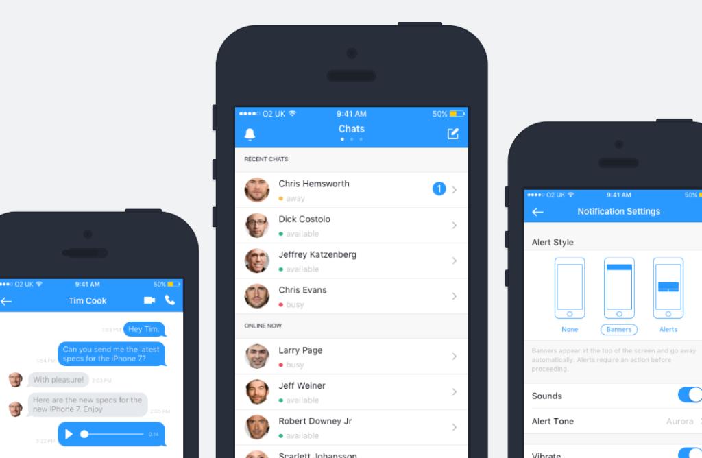 Free Chat UI Design Kit for Sketch