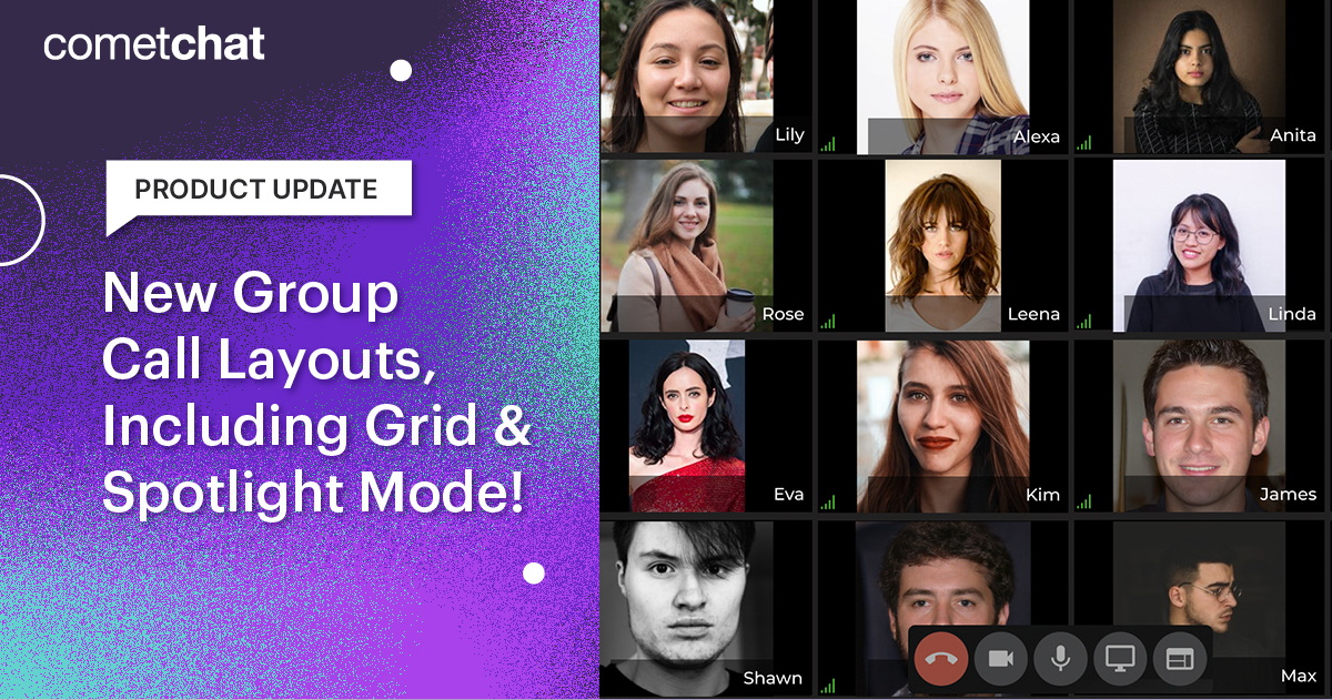 Product Update: New Group Call Layouts, Including Grid & Spotlight Mode!