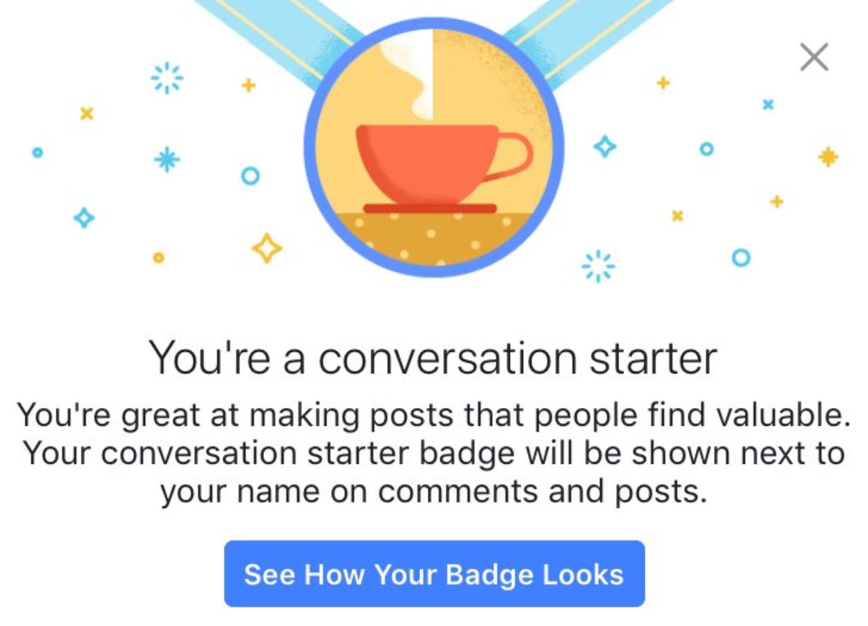 Facebook Top Fans Badge