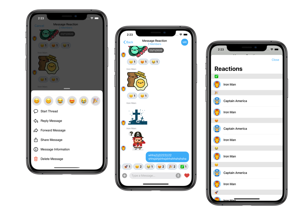 In-app Chat Reactions - CometChat