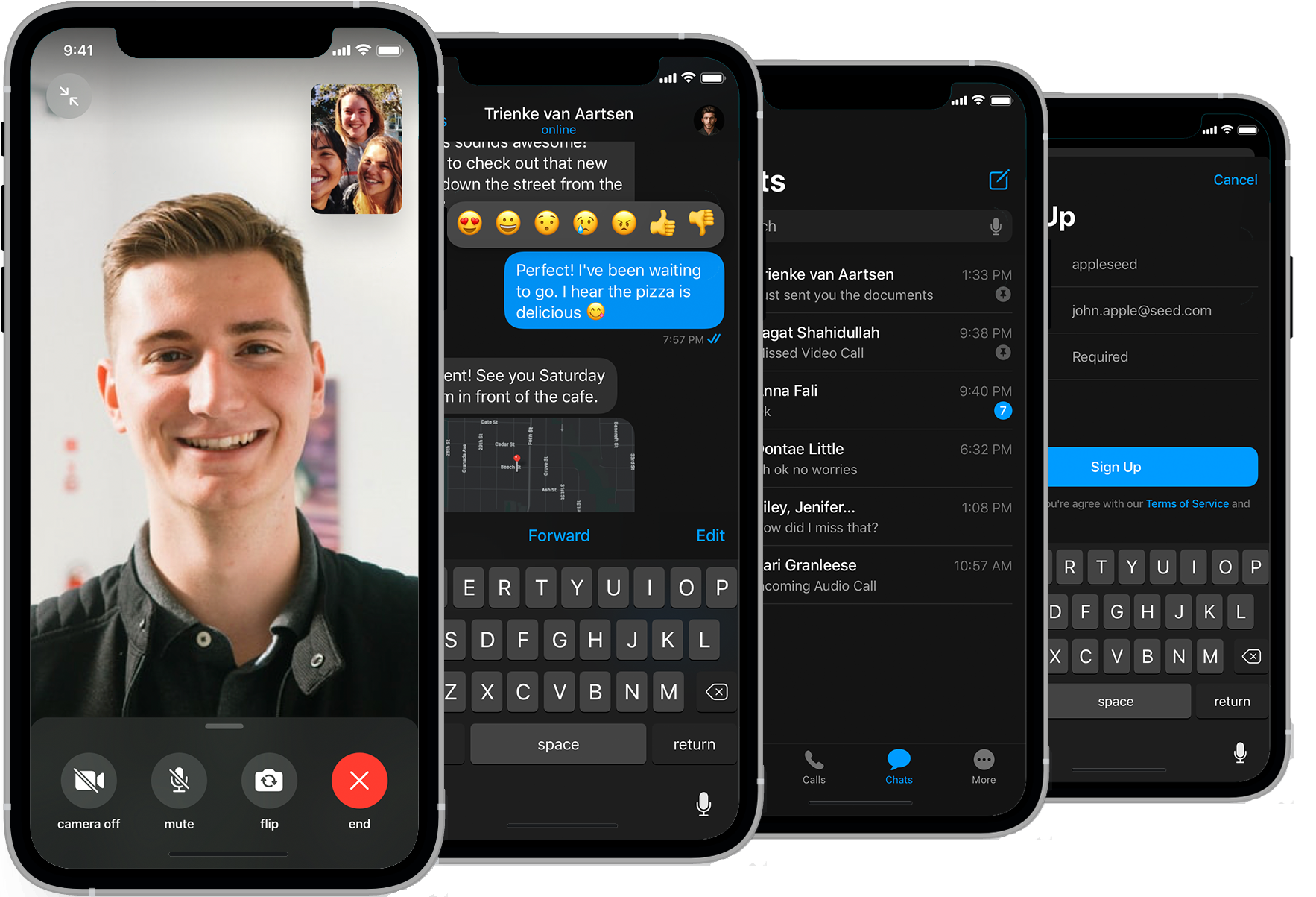 CometChat voice & video calling UI