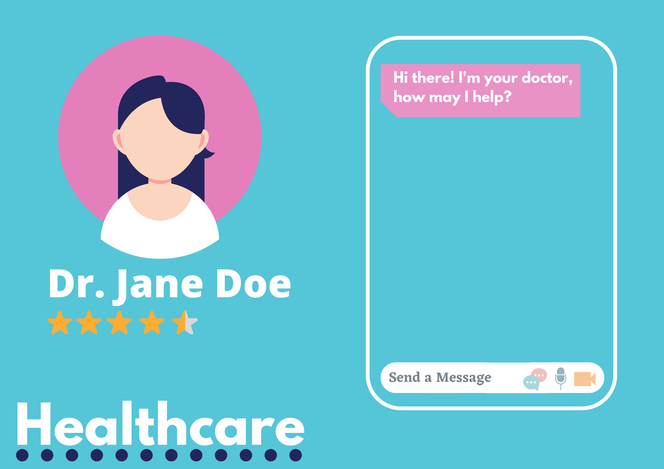 Image of a telehealth related chat between doctor and patient