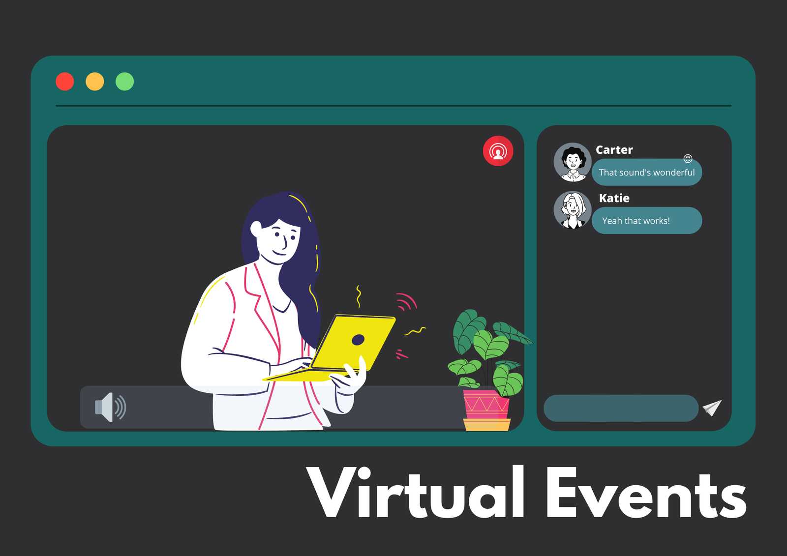 Screenshot of an on-going virtual event