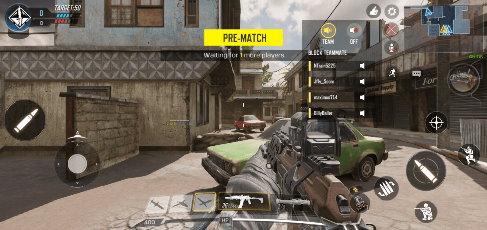 Screenshot of In-game voice chat in Call of Duty