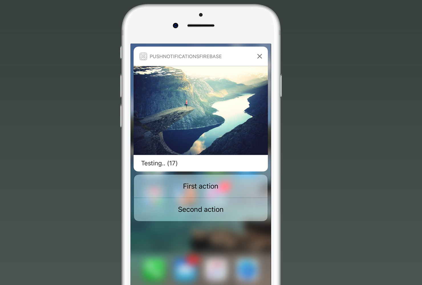 Actionable Push Notifications