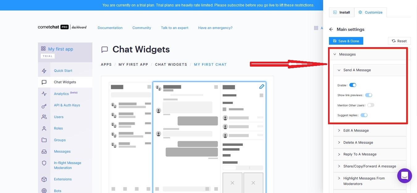 Enabling users to text chat each other