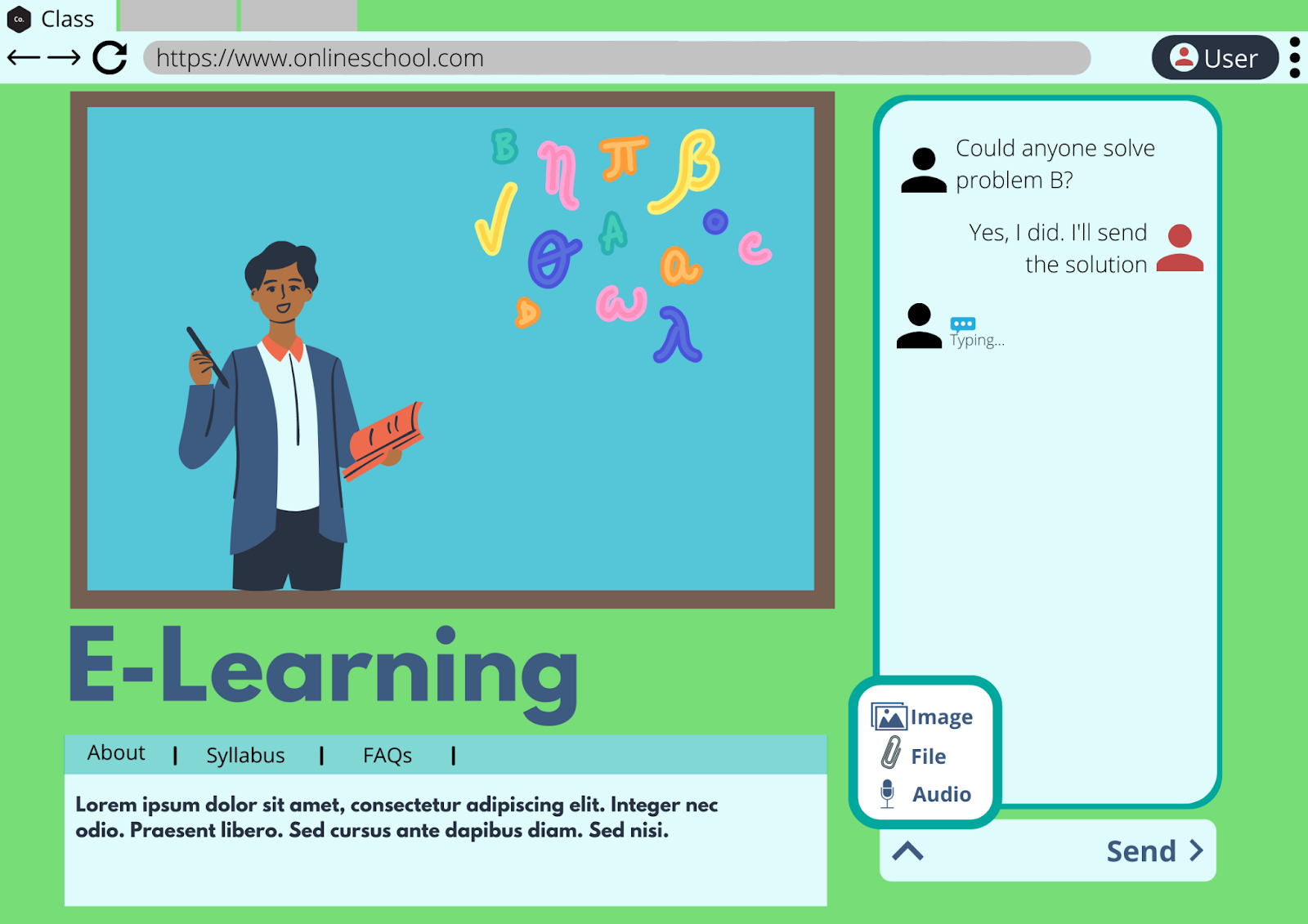 student teacher video chat