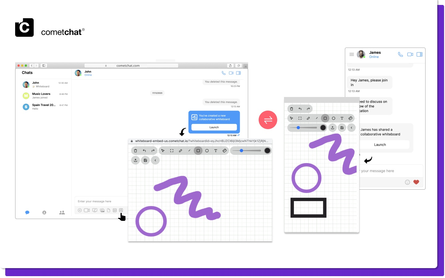 collaborative learningwith in-app chat