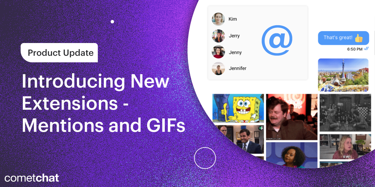 Product Update: Introducing New Extensions - Mentions and GIFs
