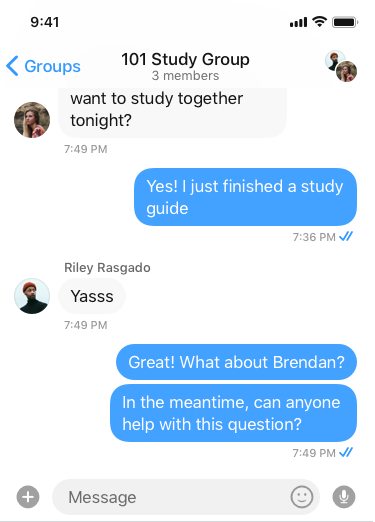 elearning group chat