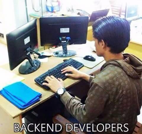 backend programming meme