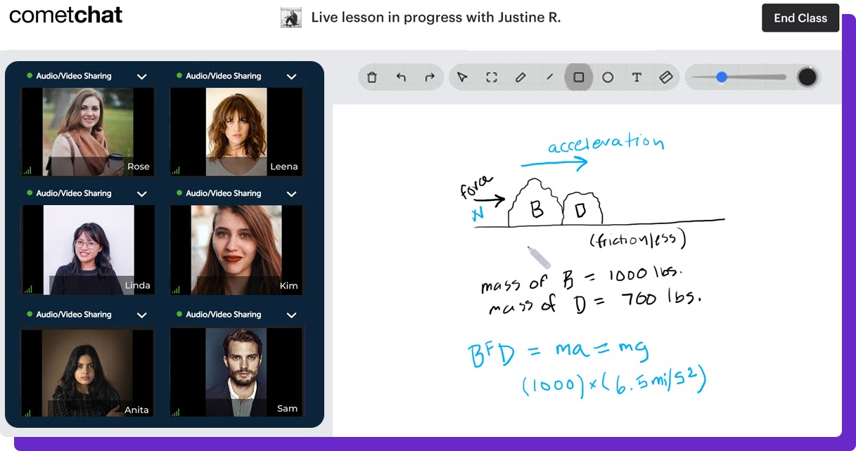 virtual classroom with cometchat