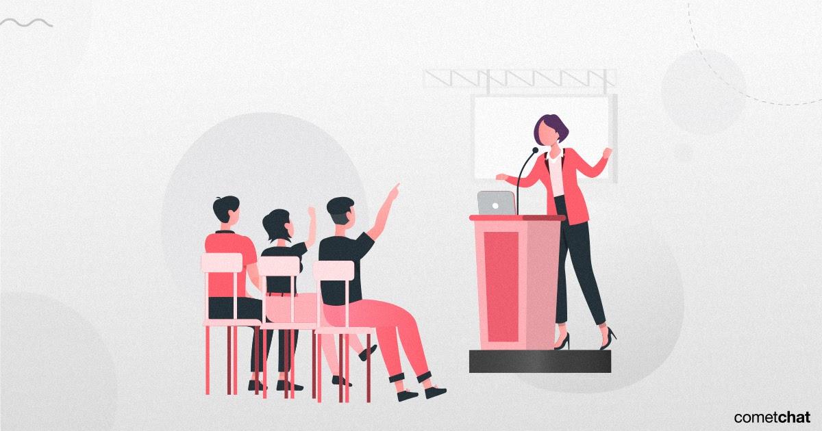 virtual event Q&A session
