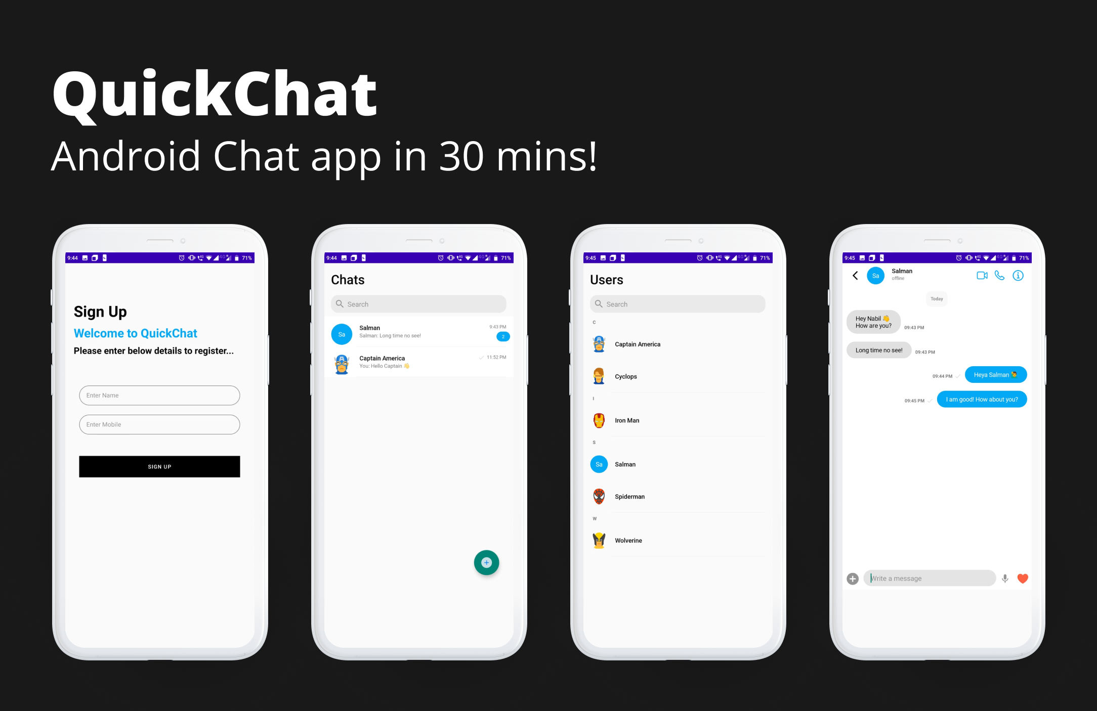 Your Android Chat App in a nutshell