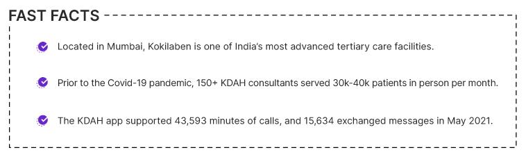 Fast Facts for Kokilaben Dhirubhai Ambani Hospital