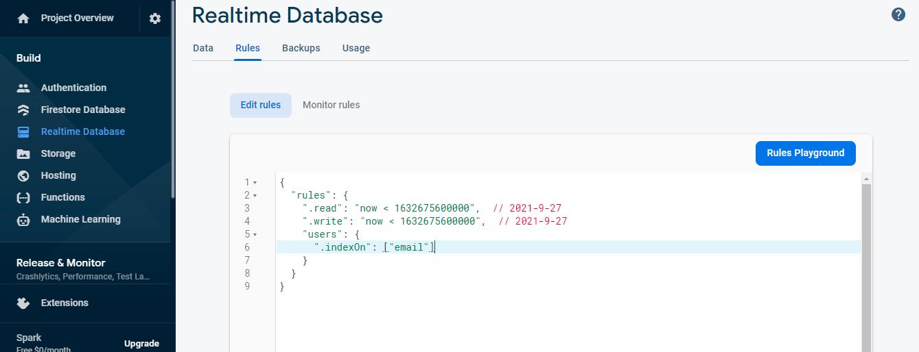 Update database rules for better performance
