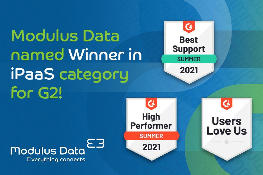Modulus Data Named Winner in iPaaS Category for G2!