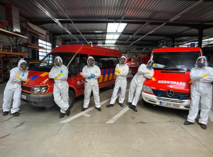 Desinfecteren van brandweerpost