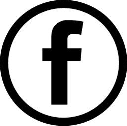 Facebooks logotyp i svart som leder till Qreds facebooksida