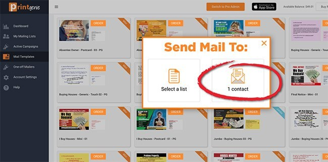 Use PRINTgenie templates to set up your direct mail marketing automation.