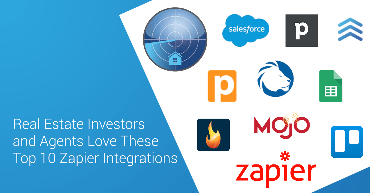 Real estate investors and agents are simplifying their lives and automating their business by integrating PropertyRadar with these apps and services using Zapier.