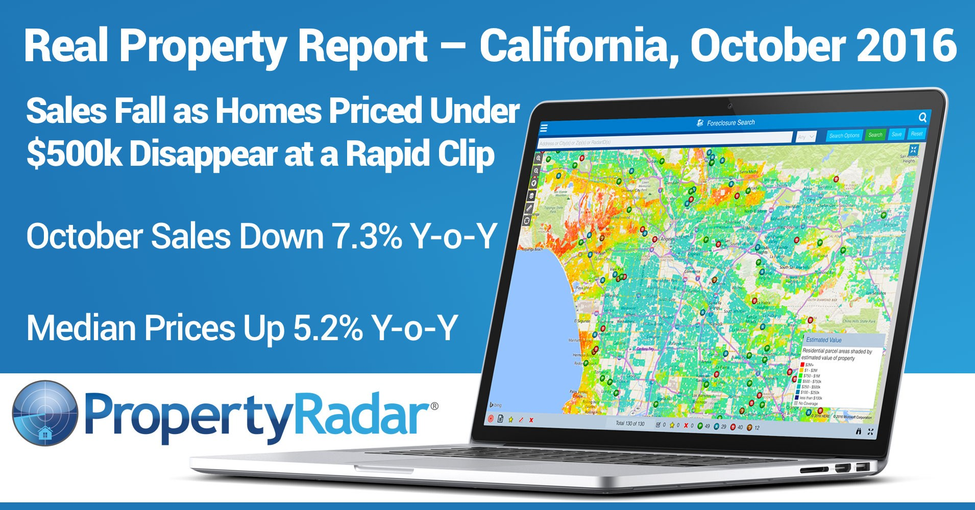 Sales Fall as Homes Priced Under $500,000 Disappear at a Rapid Clip; October Sales Down 7.3% Year-over-Year; Median Prices Up 5.2 Percent Year-over-Year