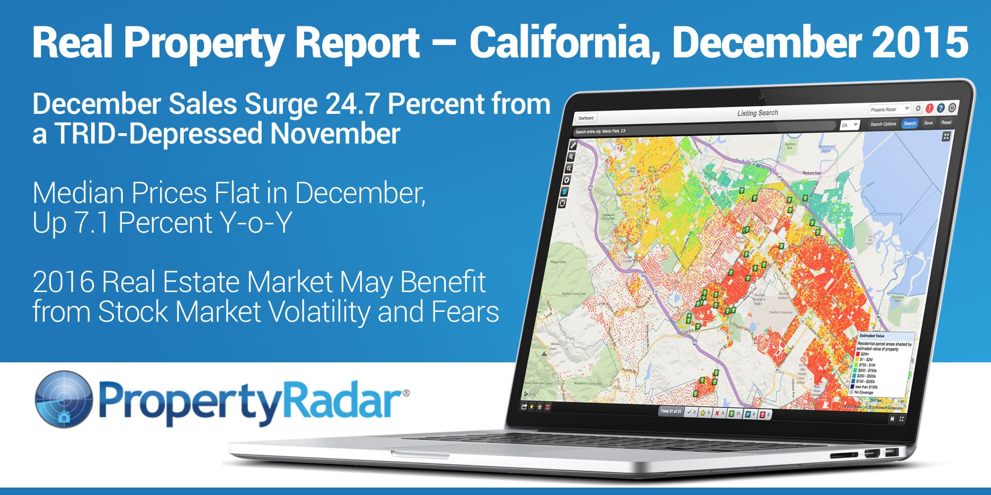 December Sales Surge 24.7 Percent from a TRID-Depressed November, Median Prices Flat in December, Up 7.1 Percent Y-o-Y