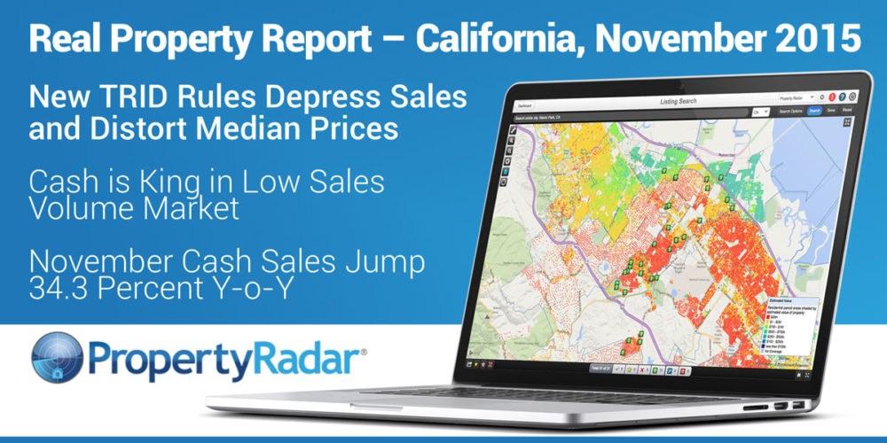 New TRID Rules Depress Sales and Distort Median Prices, Cash is King in Low Sales Volume Market