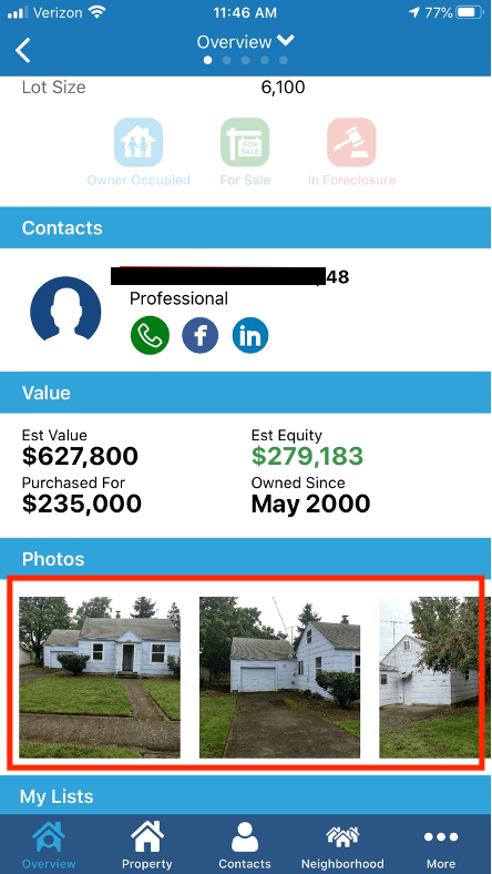 Add pictures in PropertyRadar's field sales software mobile app