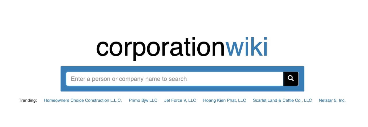 Use CorporationWiki to find owner of LLC