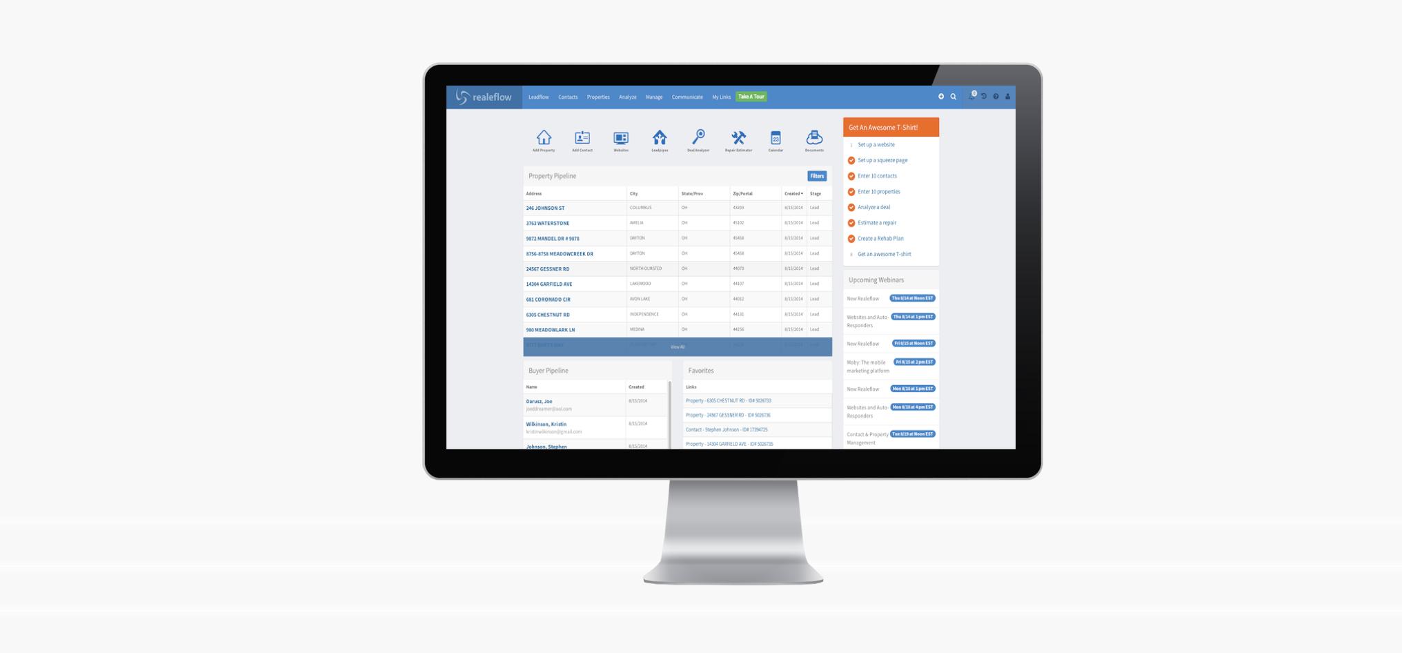 Realeflow integrates with PropertyRadar