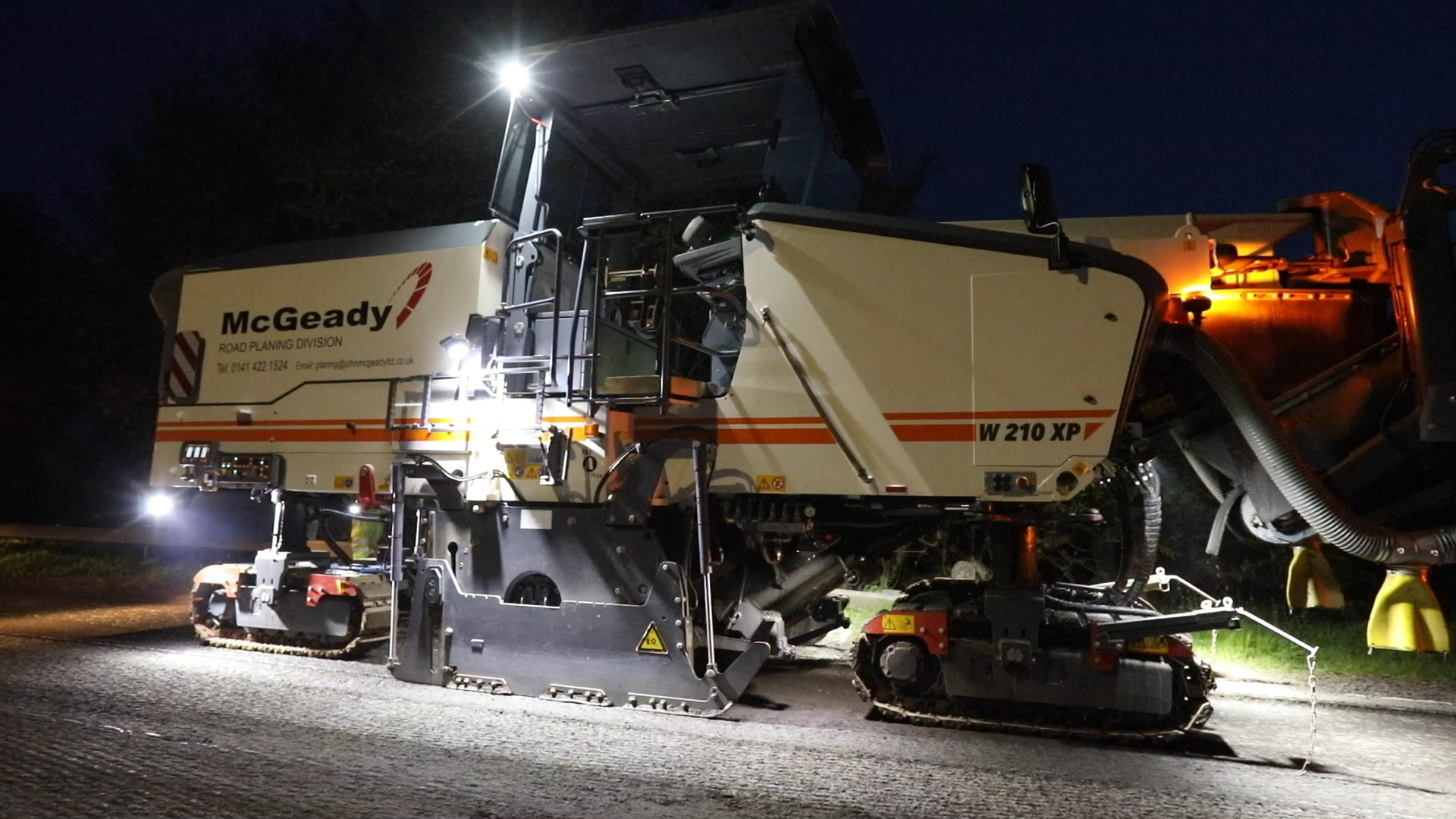 McGeady's fleet of Machinery including the latest planers and pavers
