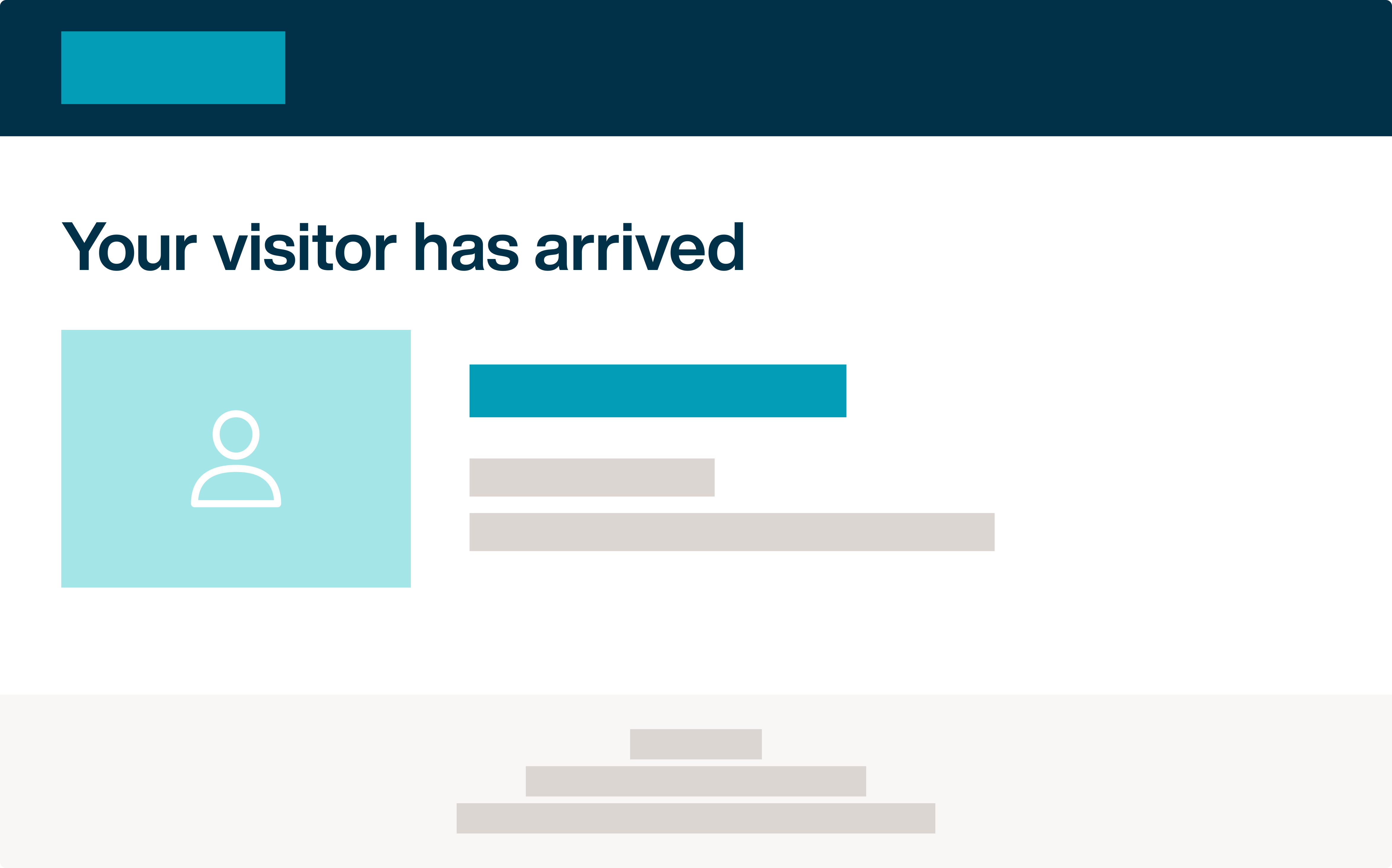 Visitor arrival notification