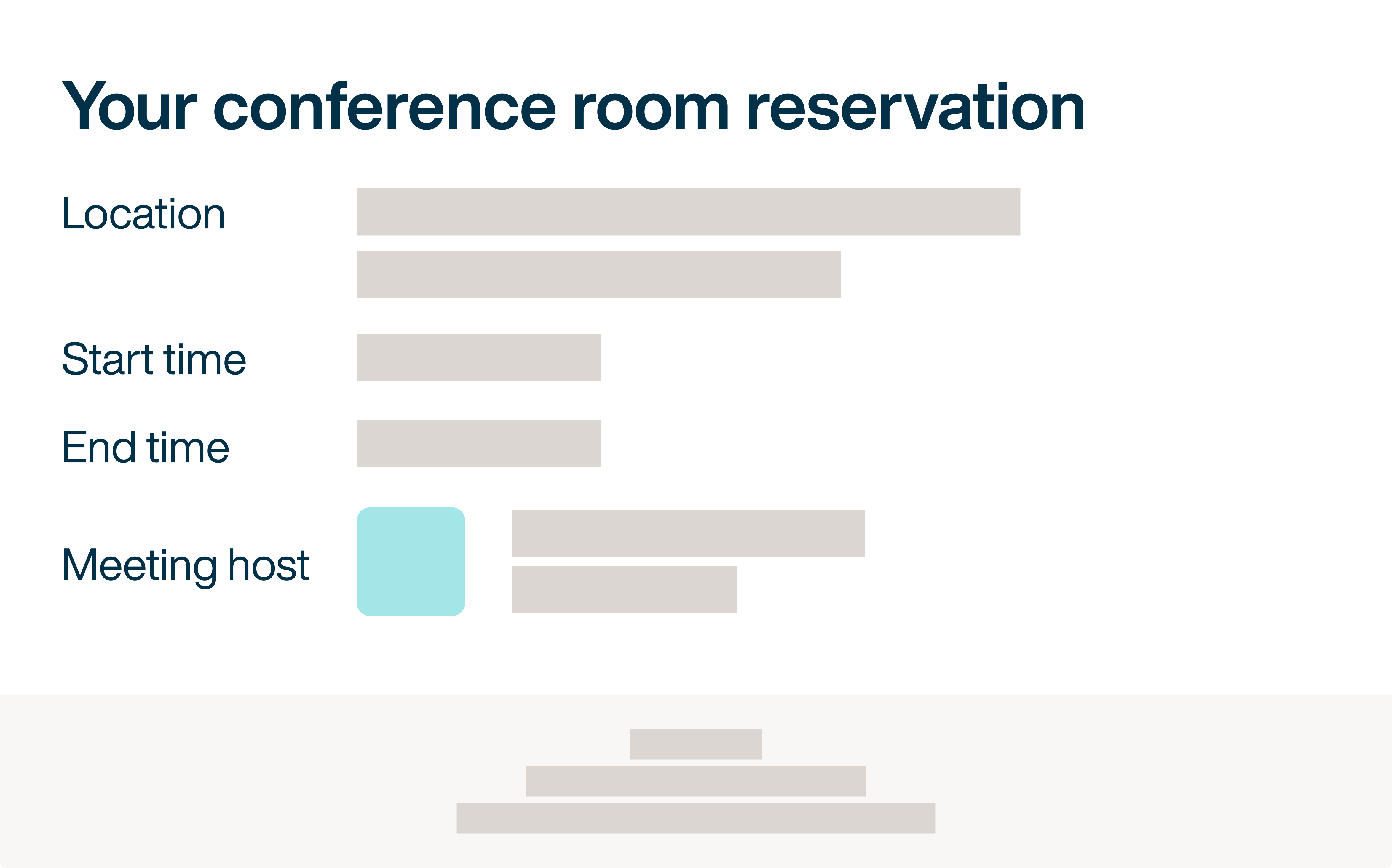 Room scheduling details