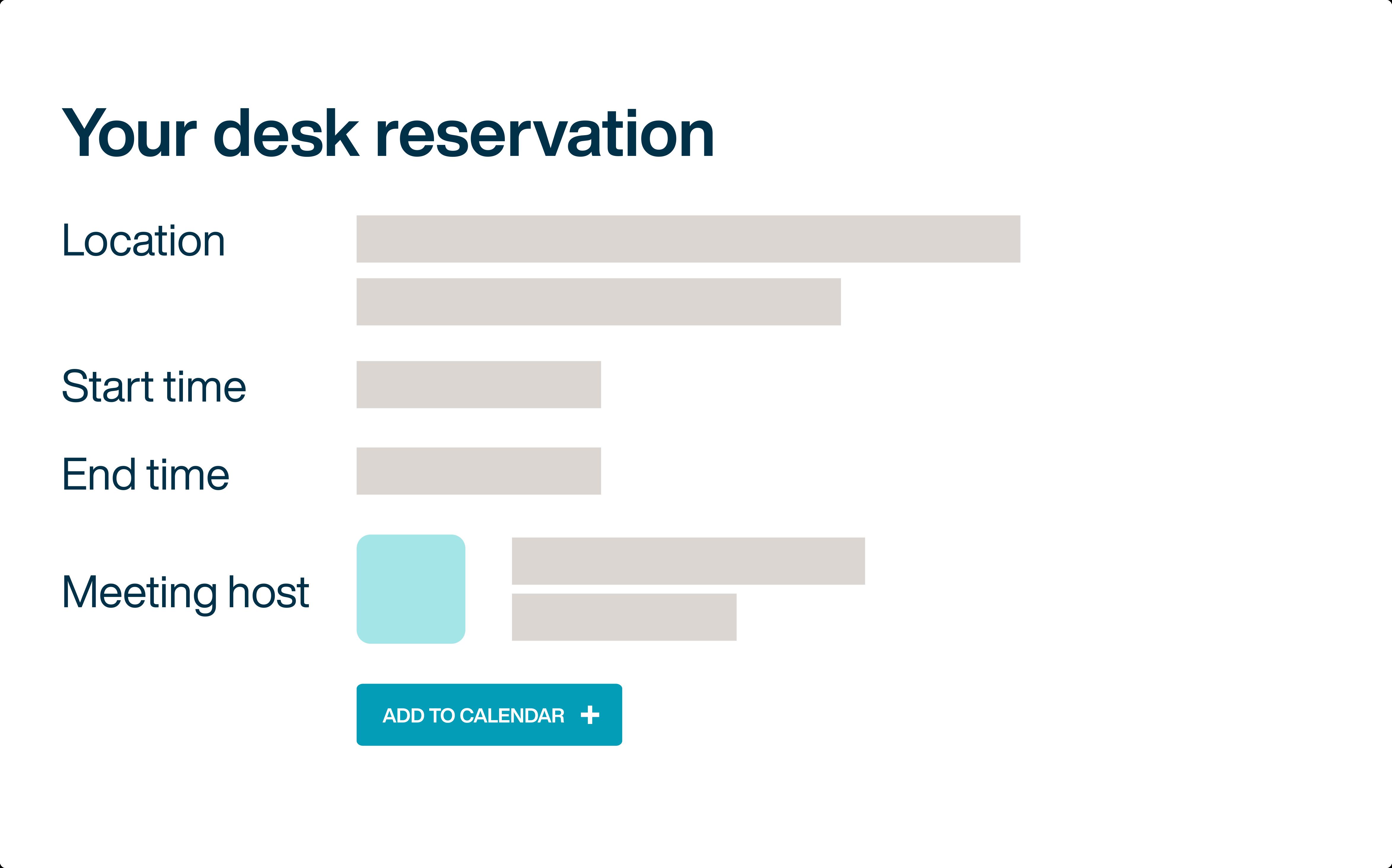 Desk reservation details