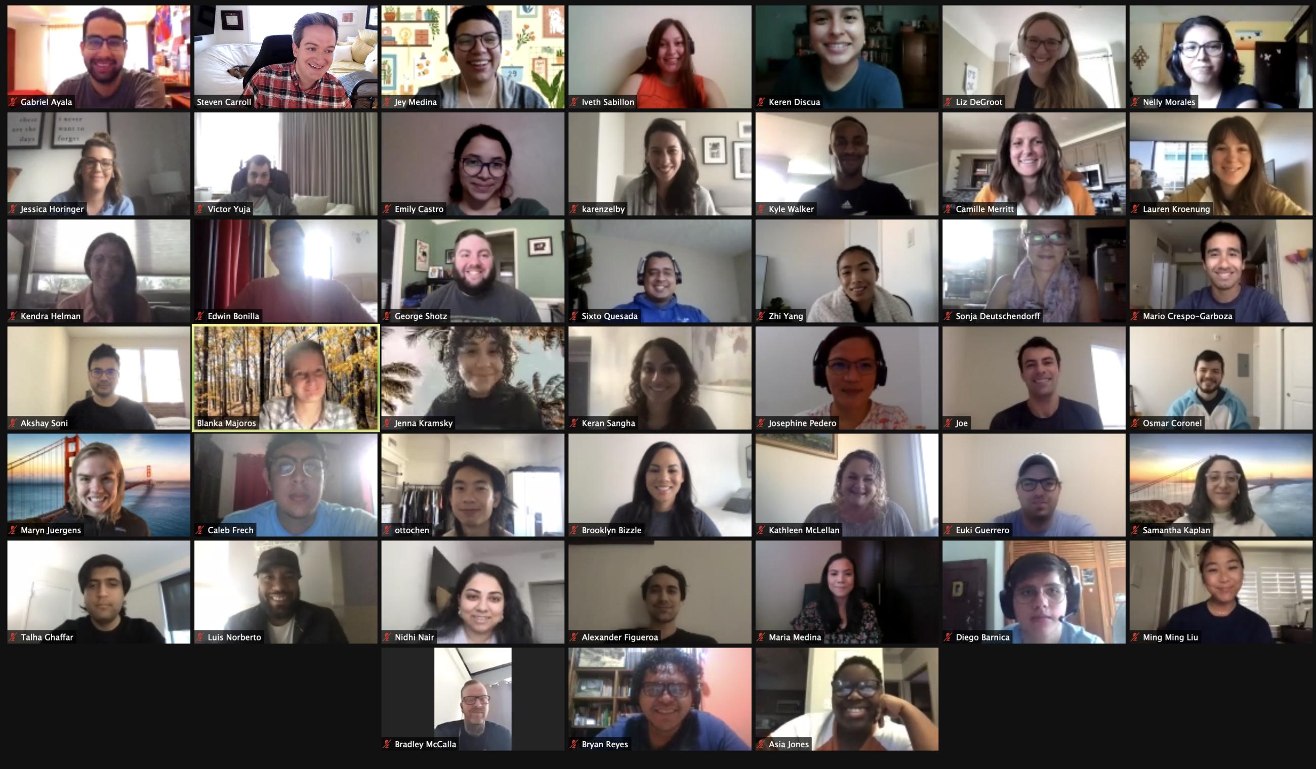 A screenshot of 45 Zoom participants