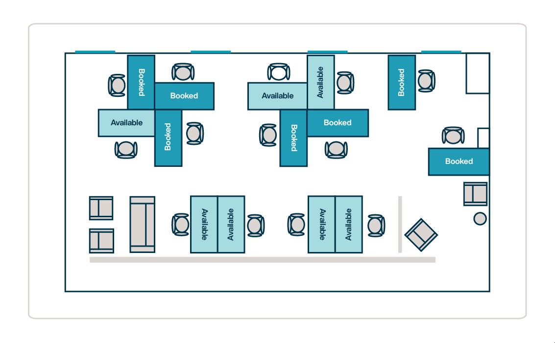 Desk Booking Floorplan