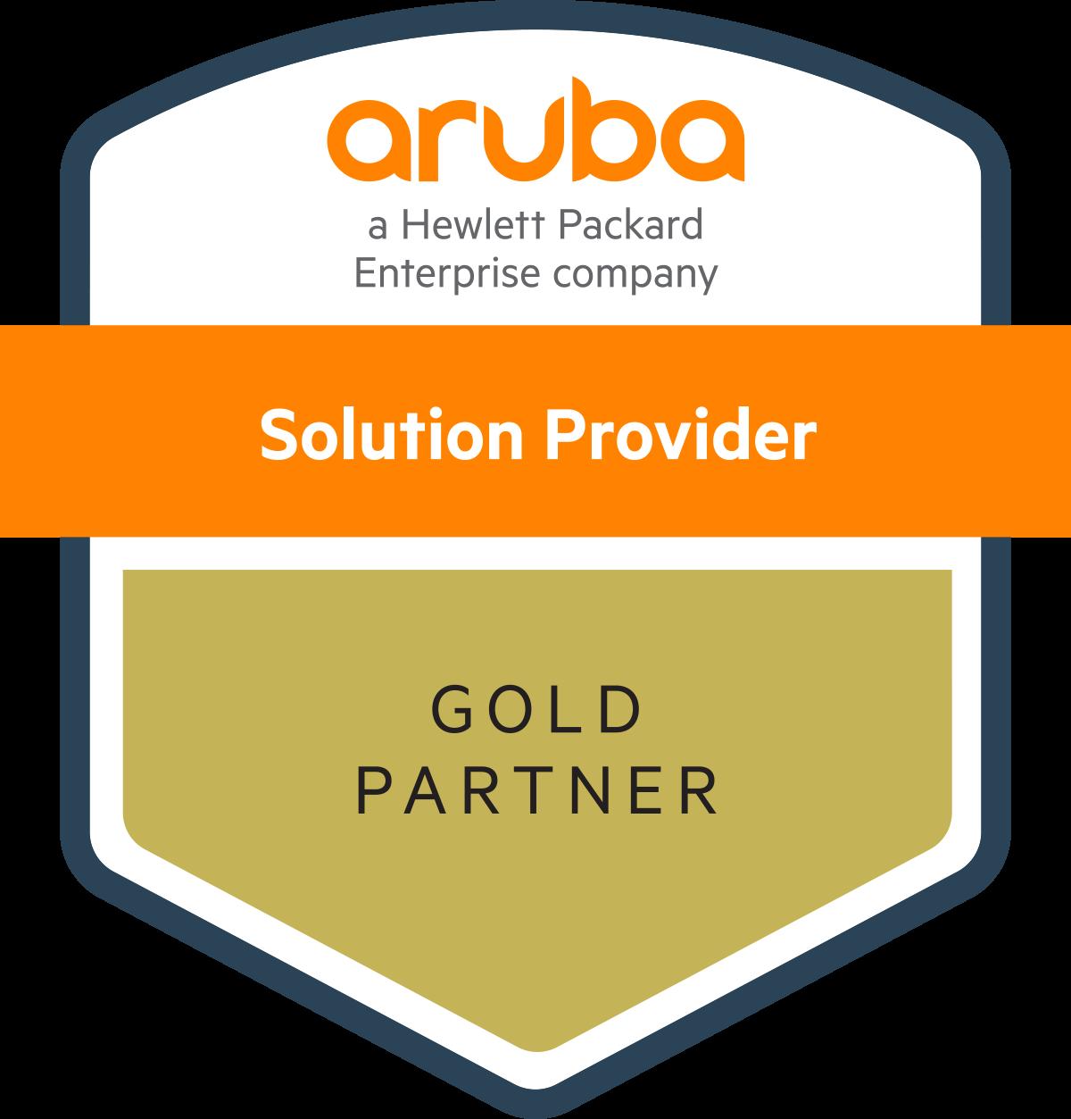 aruba solution provider gold partner graphic