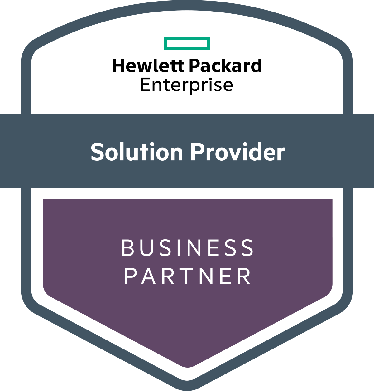hewlett packard enterprise solution provider business partner graphic