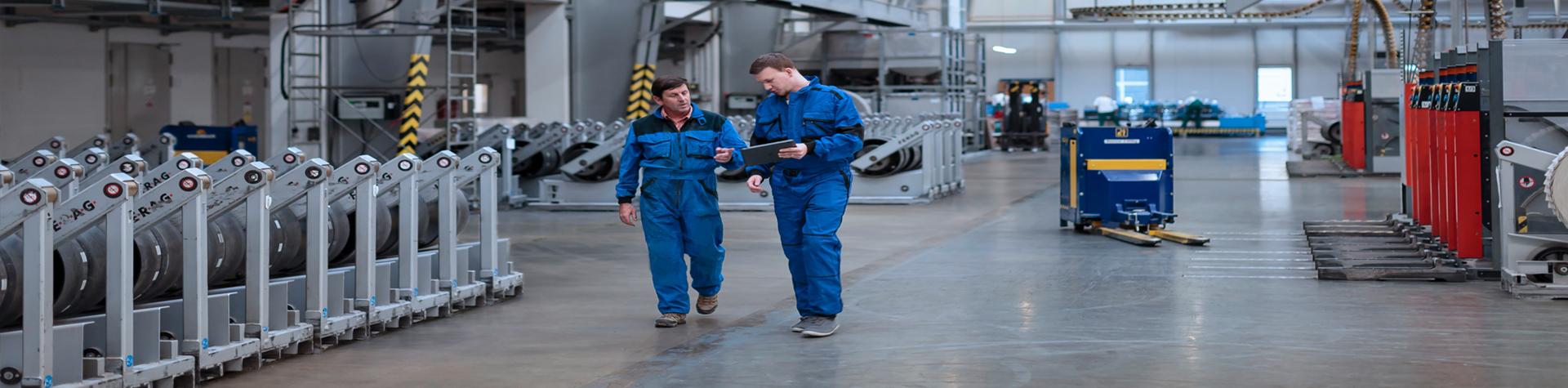 engineers looking at repair orders