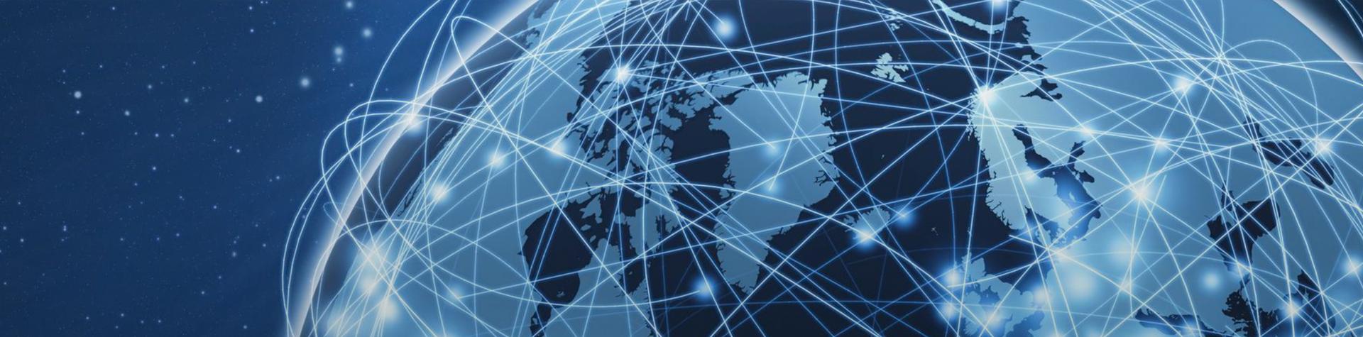artistic rendering of global networking