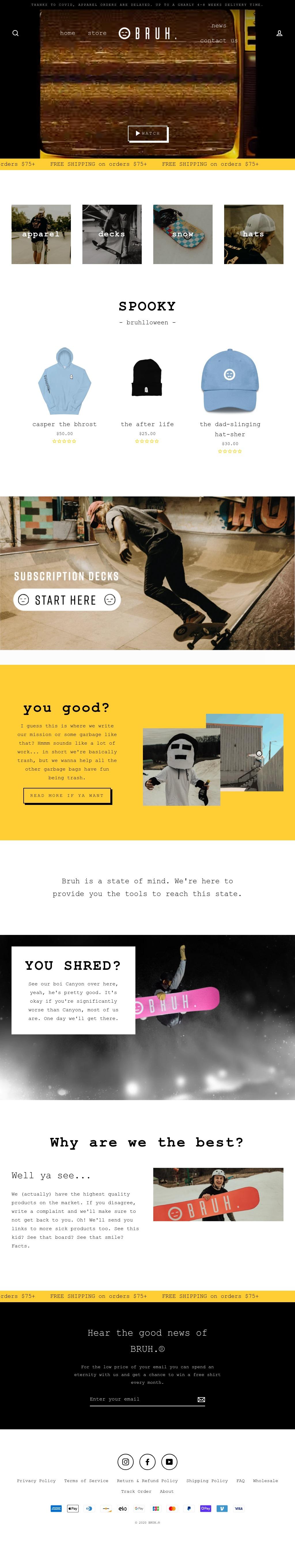 BRUH. website final
