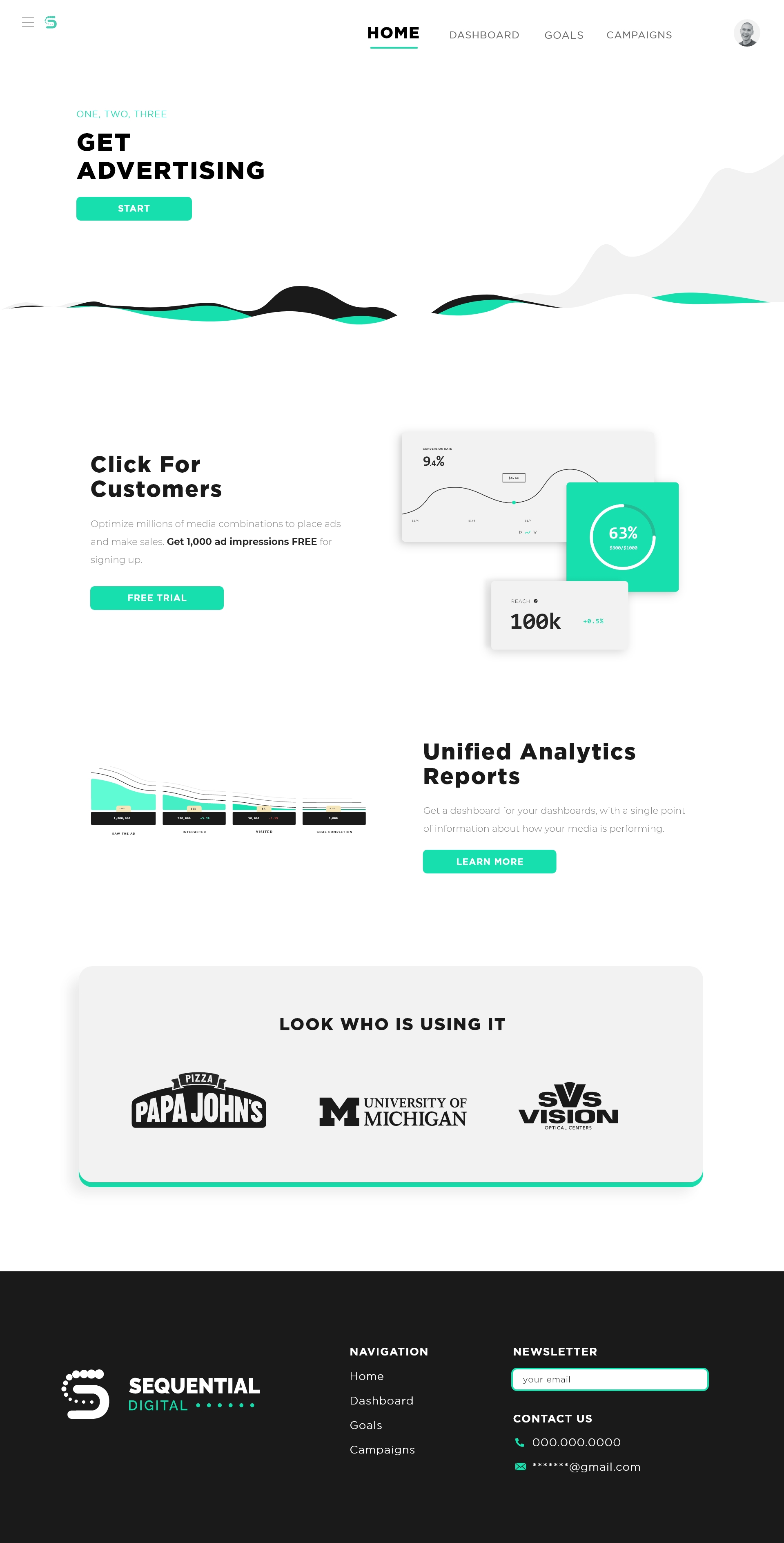 Sequential Digital website concept