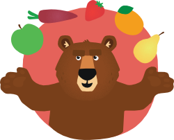 BEAR with natural fruit & veg